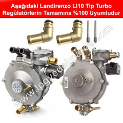 Landirenzo LI10 Tip Turbo Regülatör Su Dirseği