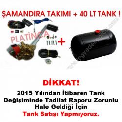 40 Lt Silindir Lpg Tankı + Şamandıra