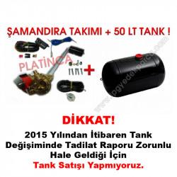 50 Lt Silindir Lpg Tankı + Şamandıra