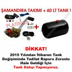 60 Lt Silindir Lpg Tankı + Şamandıra