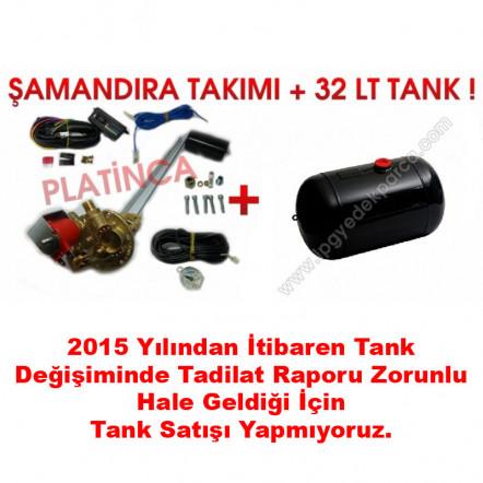 32 Lt Silindir Lpg Tankı + Şamandıra
