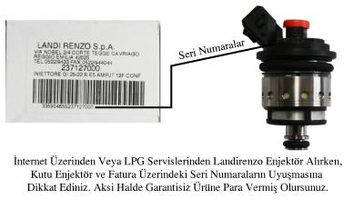 Landirenzo Turuncu Enjektör Takımı Garanti